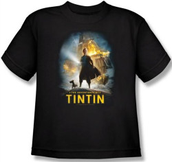 Image for The Adventures of Tintin Youth T-Shirt - Poster