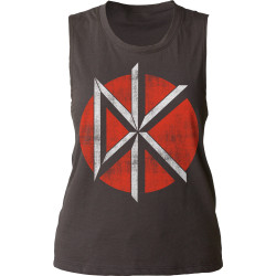 Image for Dead Kennedys Distressed Logo Girls Muscle Tank