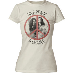 Image for John Lennon Give Peace a Chance Girls T-Shirt