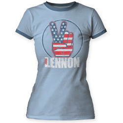 Image for John Lennon Give Peace Girls T-Shirt