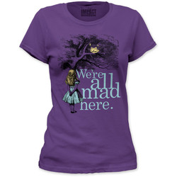 Image for Alice in Wonderland We're All Mad Here Girls T-Shirt
