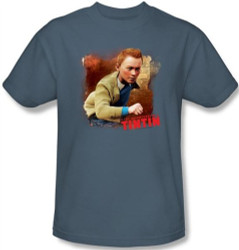 Image Closeup for The Adventures of Tintin Title T-Shirt