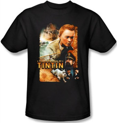 Image Closeup for The Adventures of Tintin Movie Poster T-Shirt