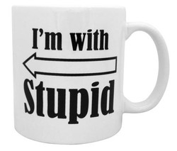 Image for I'm With Stupid Coffee Mug
