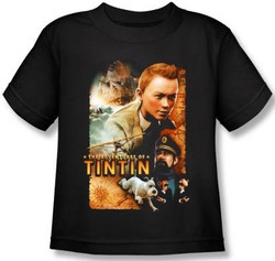 Image for The Adventures of Tintin Kids T-Shirt - Poster PAR169-KT