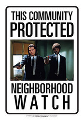 Image for Community Watch Tin Sign - Pulp Fiction