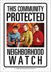 Image for Star Trek Community Watch Tin Sign
