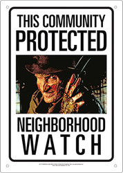 Image for A Nightmare on Elm Street Community Watch Tin Sign