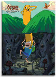 Image for Adventure Time magnet - Jake on Finn