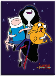 Image for Adventure Time magnet - Marceline, Jake and Finn