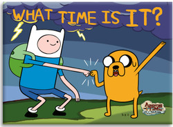Image for Adventure Time magnet - What Time Is It?