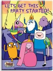 Adventure Time magnet - Let's Get This Party Started