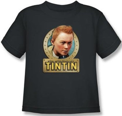 Image for The Adventures of Tintin Kids T-Shirt - Metal