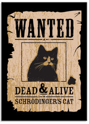 Image for Wanted Dead & Alive Cat magnet