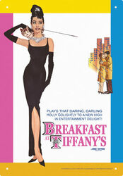 Image for Audrey Hepburn Tin Sign - Breakfast at Tiffany's