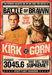 Image for Star Trek Tin Sign - Kirk vs. Gorn