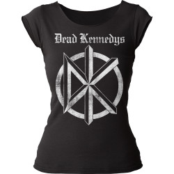 Image for The Dead Kennedys Distressed Old English Logo Girls Cut T-Shirt