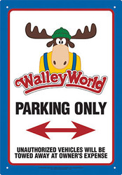 Image for Walley World Tin Sign - Parking
