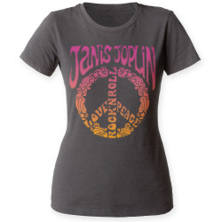 Image for Janis Joplin Peace Juniors Crew Neck Shirt