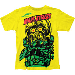 Image for Mars Attacks Subway T-Shirt - Big Yellow Martian