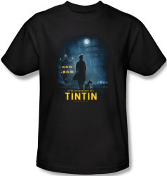 Image Closeup for The Adventures of Tintin Title Poster T-Shirt