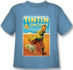 Image for The Adventures of Tintin Kids T-Shirt - Tintin & Snowy