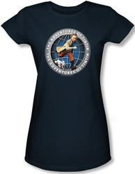 Image for The Adventures of TinTin Girls Shirt - Globe