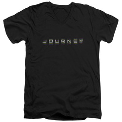Image for Journey V Neck T-Shirt - Repeat Logo