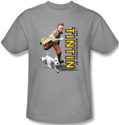 Image Closeup for The Adventures of Tintin Come On Snowy T-Shirt