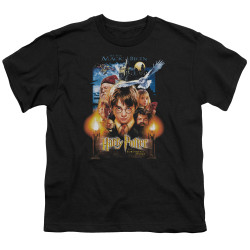 Image for Harry Potter Youth T-Shirt - Movie Poster