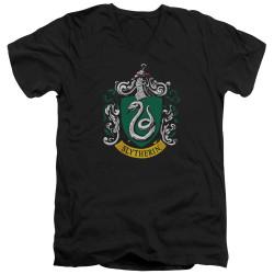 Image for Harry Potter V Neck T-Shirt - Slytherin Crest