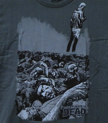 Image for Zombie T-Shirt - The Walking Dead T-Shirt - Pile Premium