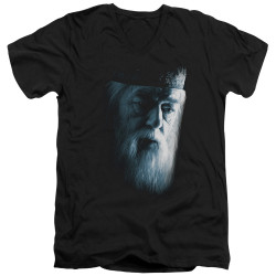 Image for Harry Potter V Neck T-Shirt - Dumbledore Face