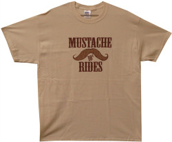 Image Closeup for Mustache Rides 10 Cents T-Shirt