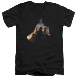 Image for Harry Potter V Neck T-Shirt - Voldemort Looms