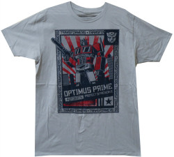 Image Closeup for Transformers Optimus Prime T-Shirt