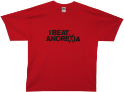 Image Closeup for I Beat Anorexia T-Shirt