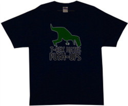 Image Closeup for T-Rex Hates Push-Ups T-Shirt