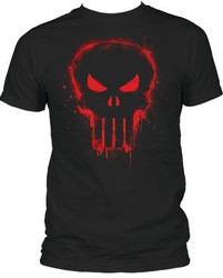Image Closeup for The Punisher T-Shirt - Red Logo