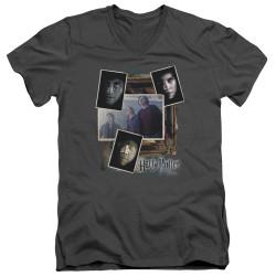Image for Harry Potter V Neck T-Shirt - Trio Collage