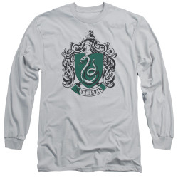 Image for Harry Potter Long Sleeve Shirt - Slytherin Silver Crest