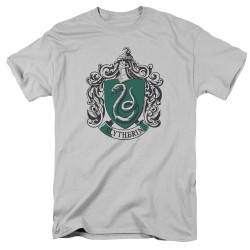 Image for Harry Potter T-Shirt - Slytherin Silver Crest