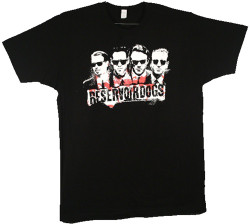 Image Closeup for Reservoir Dogs 4 Faces T-Shirt