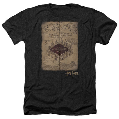 Image for Harry Potter Heather T-Shirt - Marauder's Map