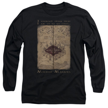 Image for Harry Potter Long Sleeve Shirt - Maruader's Map Words