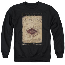 Image for Harry Potter Crewneck - Maruader's Map Words