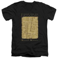 Image for Harry Potter V Neck T-Shirt - Map Interior