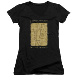 Image for Harry Potter Girls V Neck - Map Interior