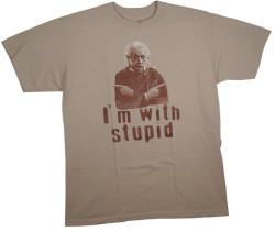 Albert Einstein I'm with stupid X2 T-Shirt
