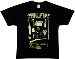 Image Closeup for Shaun of the Dead T-Shirt - Zombie Survival Kit